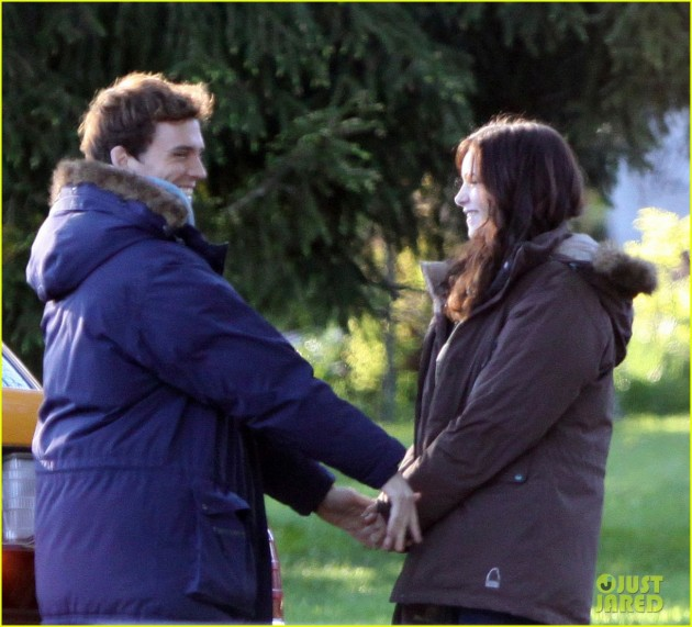**EXCLUSIVE** FIRST LOOK! Lily Collins and Sam Claflin pictured filming scenes on set of their new movie 'Love, Rosie' in Toronto